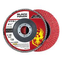 """4-1/2"""" x 7/8"""" Black Hawk Ceramic Flap Disc T27"""