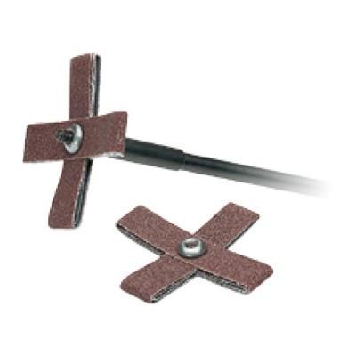 Abrasive Cross pad on mandrel