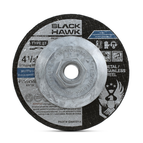"""4-1/2"""" x 1/4"""" x 5/8""""-11 Grinding Disc with Hub"""