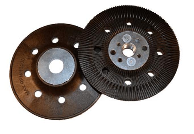"5"" x 5/8""-11 resin fibre back up pad angle grinder"