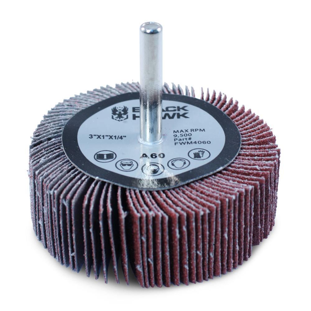 Abrasive mounted flap wheel