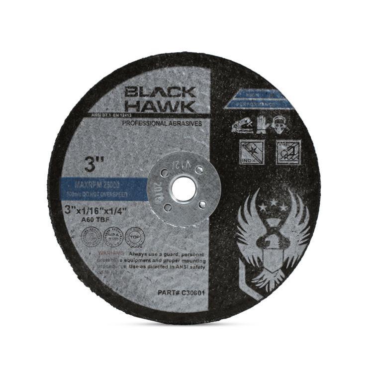 "3"" x .0625"" x 1/4"" Die Grinder Cut-Off Wheels by Black Hawk Abrasives"