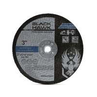 "3"" x .0625"" x 1/4"" Die Grinder Cut-Off Wheels by Black Hawk Abrasives"