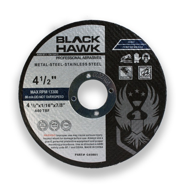 "4-1/2"" x 1/16"" x 7/8"" Cutting Disc Type 1 - 25 Pack"