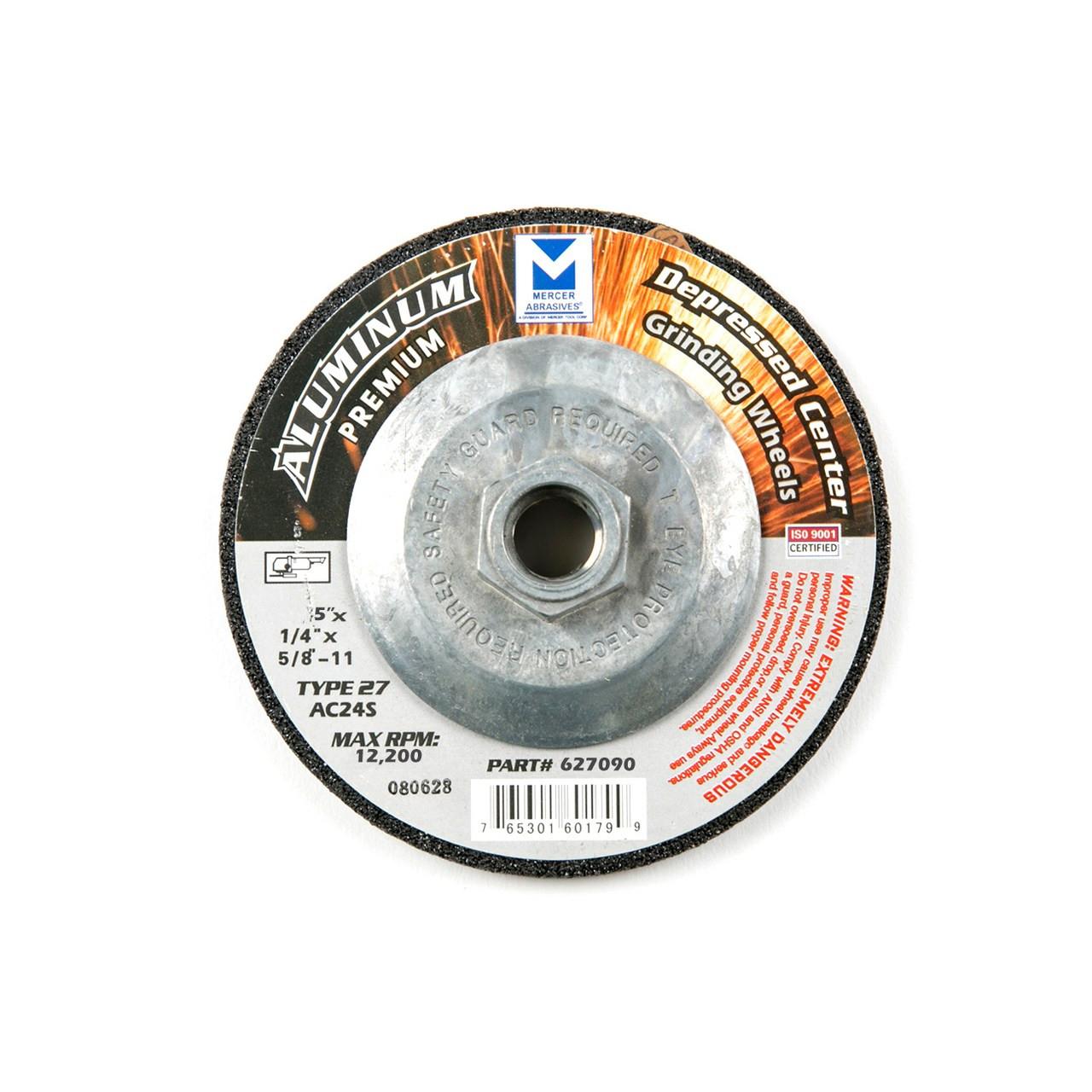 "5"" aluminum grinding wheel with hub"