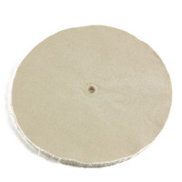 "10"" x 1/2"" arbor hole cotton loose buffing wheel 20 ply"