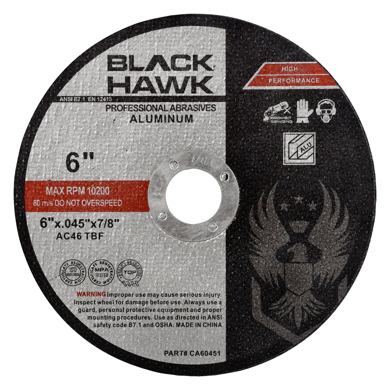 6 inch cut off wheel for aluminum