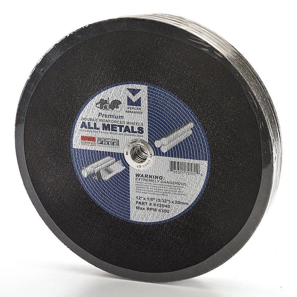 """12"""" x 1/8"""" (5/32"""") x 20mm Gas-Powered Portable Saw Cut-Off Wheel"""