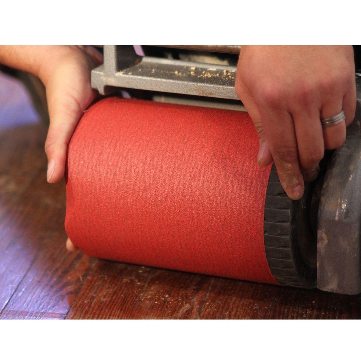 """7-7/8"""" x 29-1/2"""" Ceramic Drum Floor Sanding Belt Machine"""