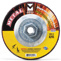"Mercer 5"" x 1/8"" x 5/8""-11 Hubbed Cutting and Light Grinding Wheel"