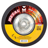"Mercer 7"" x 1/8"" x 5/8""-11 Hubbed Cutting and Light Grinding Wheel"
