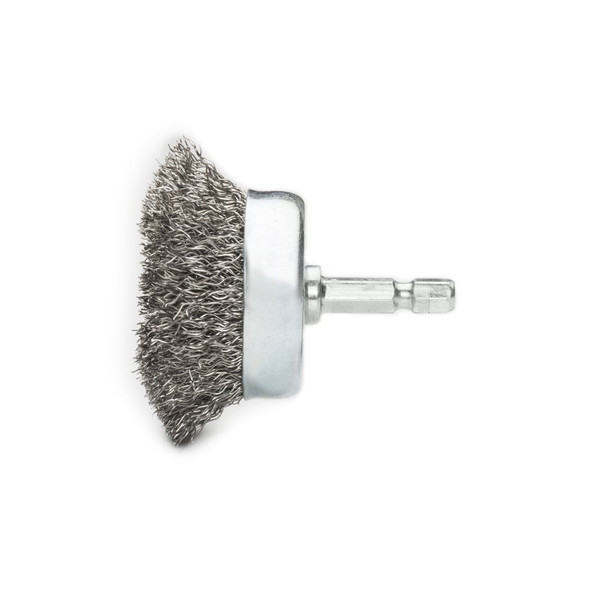 """3"""" Crimped Cup Brush with 1/4"""" Hex Shank"""