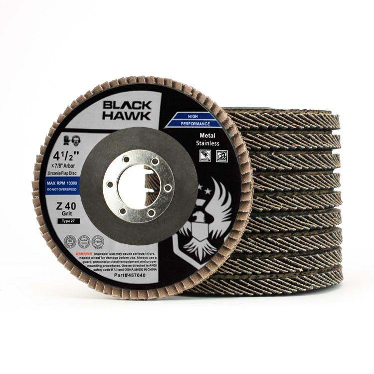 "Black Hawk 4-1/2"" x 7/8"" Flap Disc Type 27 - 10 Pack"