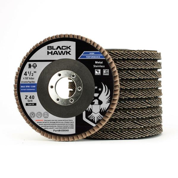 "4.5"" Black Hawk Zirconia Flap Disc 10 Pack"