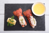 Maine Cold Water Lobster Tails 5-6oz ea, (2 Tails) w/clam chowder