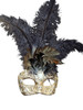 Authentic Venetian mask Colombina Piume Mac