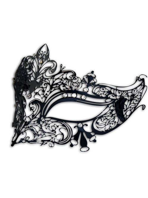 Venetian mask Colombina Metallo Ira