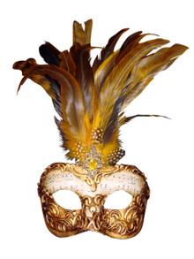 Venetian mask Colombina Capriccio Piume