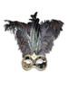 Venetian feathered mask Colombina Foga