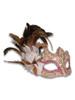 Venetian mask Colombina Ombra Piume