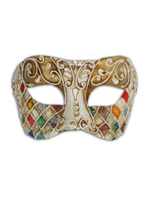 Authentic Venetian Mask Colombina Mosaica