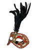 Authentic Venetian Mask Colombina Cordone Piume