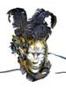 Authentic Venetian mask Volto Indizio Piume