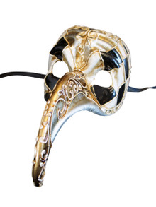 Authentic Venetian Mask Zan Turco Arlecchino