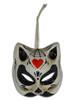 Venetian Mini Mask Ornament Gatto Teschio