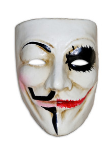 Venetian Full Face Mask Volto Joker / Guy Fawkes