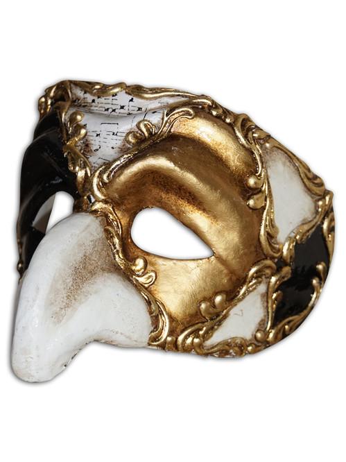 Authentic Venetian Mask Pulcinella Ron