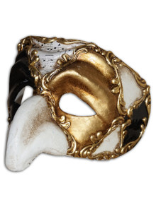 Authentic Venetian Mask Pulcinella Ron
