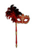 Authentic Venetian mask Colombina Ombra Piume