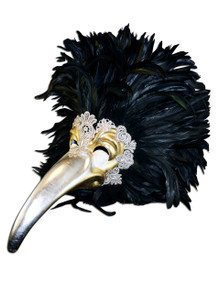 Authentic Venetian mask Uccello Piume Grande