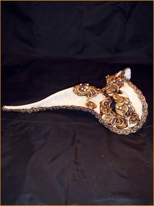 Venetian mask Zanni Mac Craquele