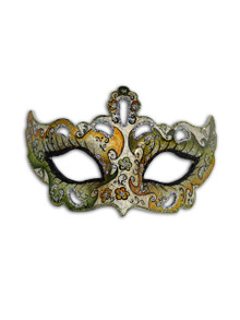 Authentic Venetian Mask Colombina Cabare