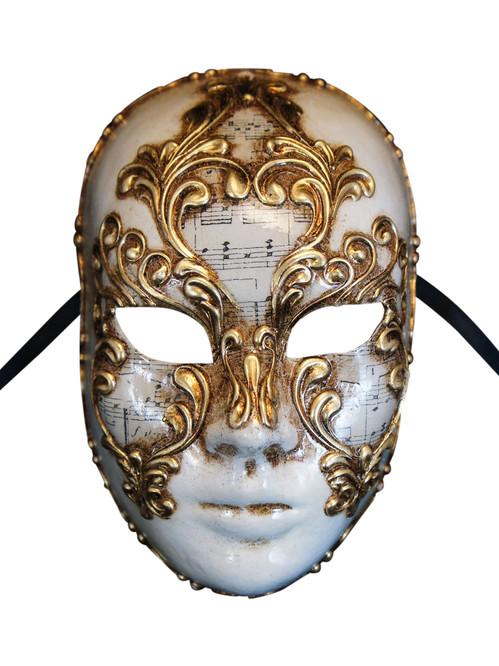 Authentic Venetian Mask Volto Musica