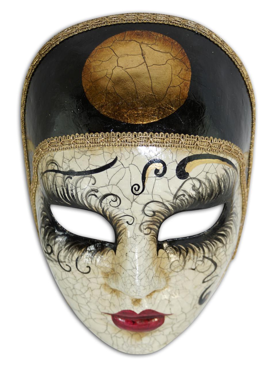 Volto Pierrot echt Venezianische Maske Gesichtsmaske