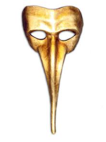 Traditional Venetian mask Zanni Metallo