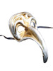 Authentic Venetian mask Zan Turco Metallo