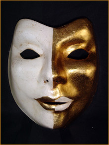 Authentic Venetian mask Volto Uri