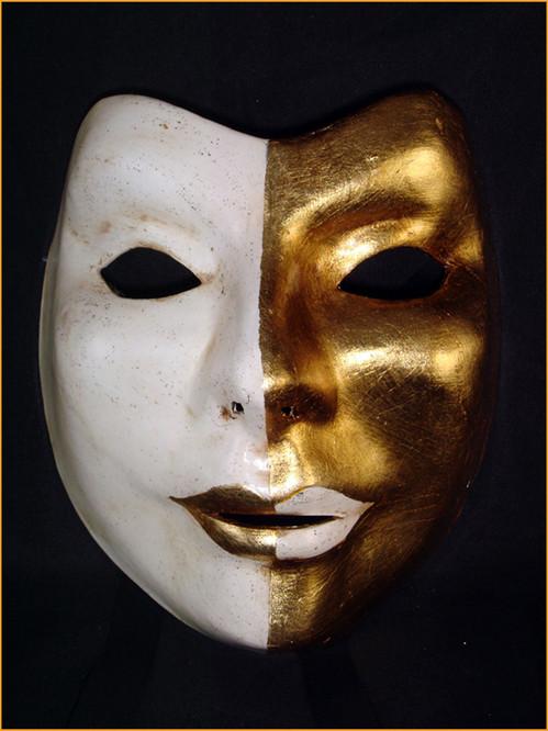 Authentic Venetian mask Volto Uri