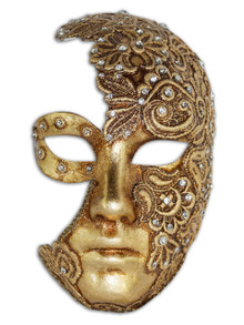 Authentic Venetian mask Volto Luna Mac