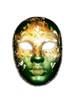 Authentic Venetian mask Volto Flore