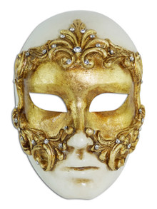 Authentic Venetian mask Volto Baroque