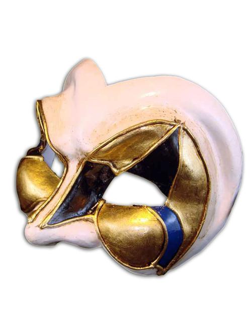 Venetian mask Jester Mezzo