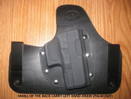 Beretta IWB SOBR (small of the Back) hybrid Leather\Kydex Holster (fixed retention)