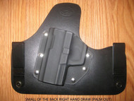 GLOCK IWB SOBR (small of the Back) hybrid Leather\Kydex Holster (fixed retention)
