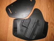 GLOCK IWB/OWB standard hybrid leather\Kydex Holster (Adjustable retention)
