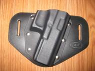 GLOCK OWB standard hybrid leather\Kydex Holster (fixed retention)